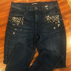 Express Factory Mid-Rise Jeans